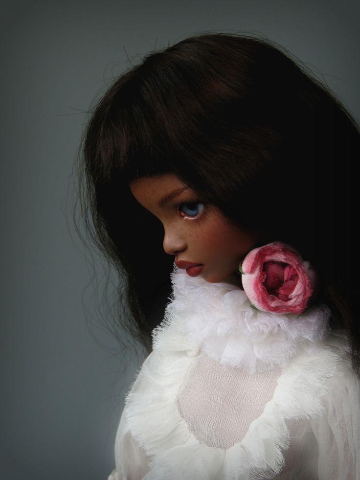 Caramel porcelain doll by Irina Lumiere