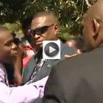 Reporter gets Shoved by PM Portia Simpson-Miller's security