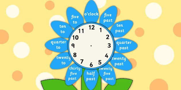 * NEW * Analogue Clock Flower Labels Words
