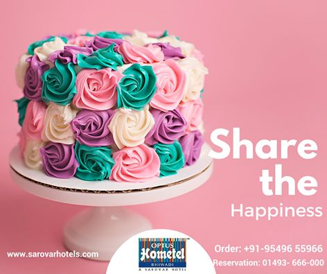 Spread the Happiness with a piece of perfectly baked delight. Call us to Oder:+91- 95496-55966 #cake #weddingcake #Anniversarycake #BirthdayCake #Bhiwadi