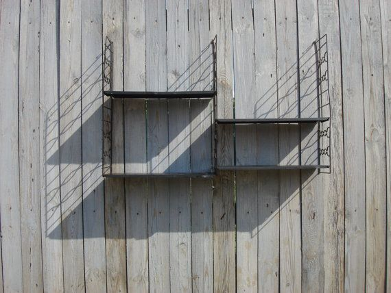 Mid Century Wall Unit Book Rack Shelves by OldMoscowGallery