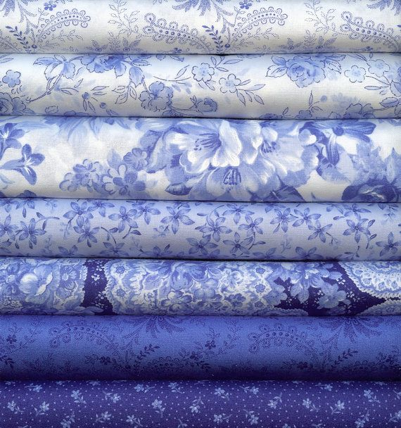 Love me some blues...Summer Breeze II Blue and White by Sentimental by LisasSewingRoom