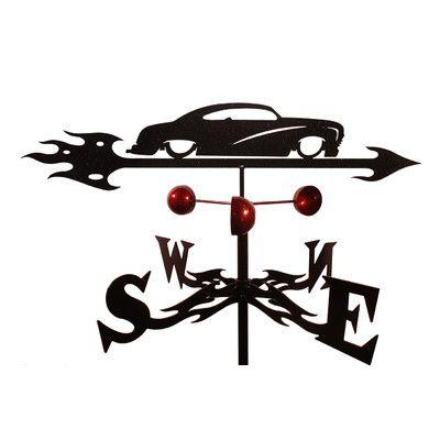 SWENProducts Handmade Chop Mercury Auto Car Weathervane with Side Mount