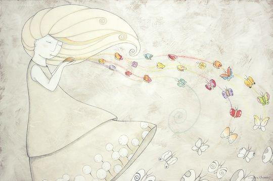 """""L'arcobaleno dentro"" ""The rainbow inside"""" by cinzia mazzoni on #INPRNT - #illustration #print #poster #art"