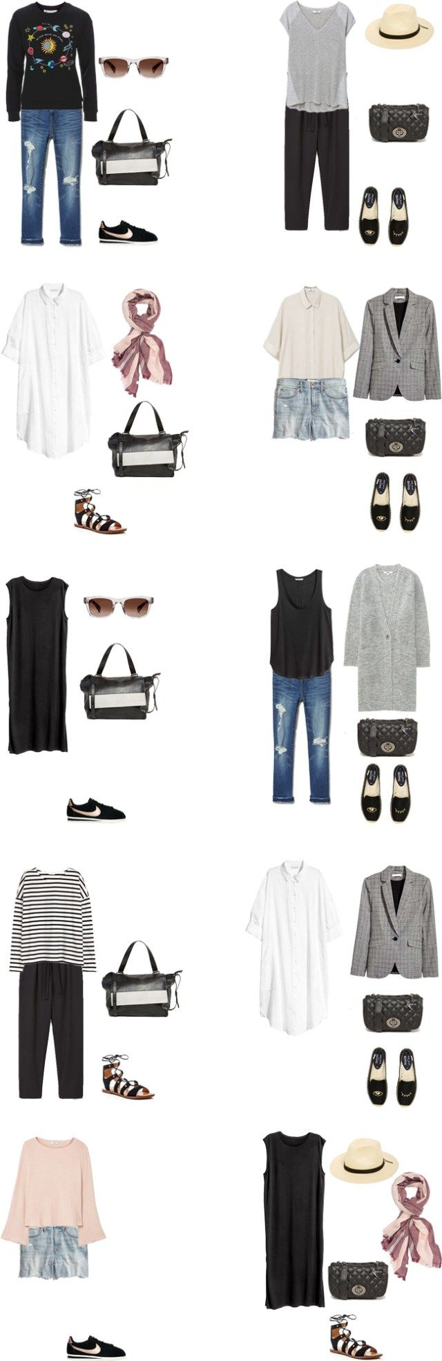 Packing List: 2 weeks in Lisbon, Portugal in Spring 2017. Outfit Options 1 - livelovesara