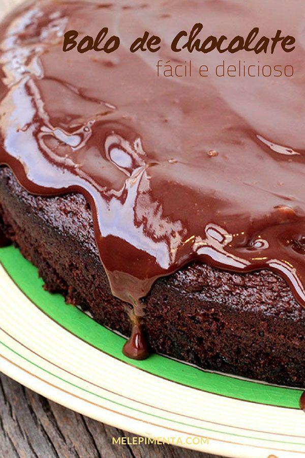 Bolo De Chocolate Rapido Fofo E Intenso Mel E Pimenta