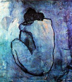 Nu assis de dos Picasso   Période bleue