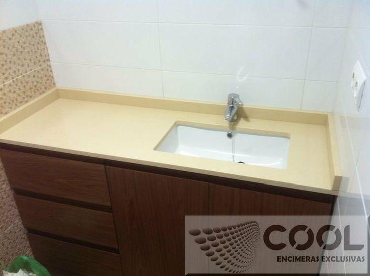 Encimera lavabo compac marfil stone encimera compac - Encimeras compac ...