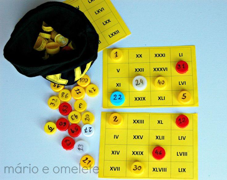 Bingo de números romanos. Roman numbers bingo. Great for Math.