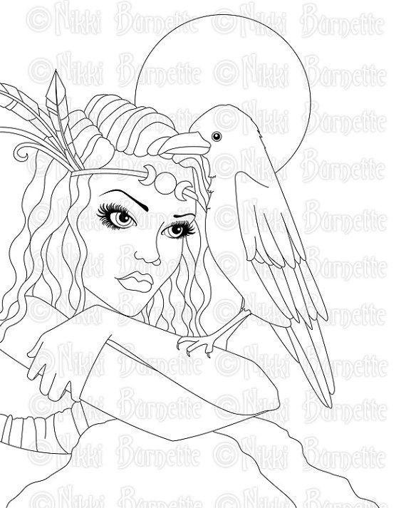 63 best Goddess Adult Coloring