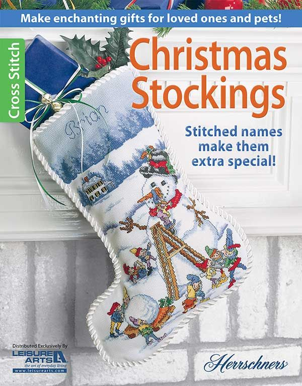 Stockings With Names On Them Part - 43: Christmas Stockings Cross Stitch Patterns A Great Way To Make Gifts For  Family And Even Pets