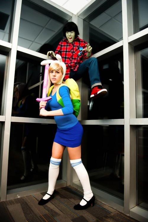 Adventure Time cosplay- Fiona & Marshall Lee
