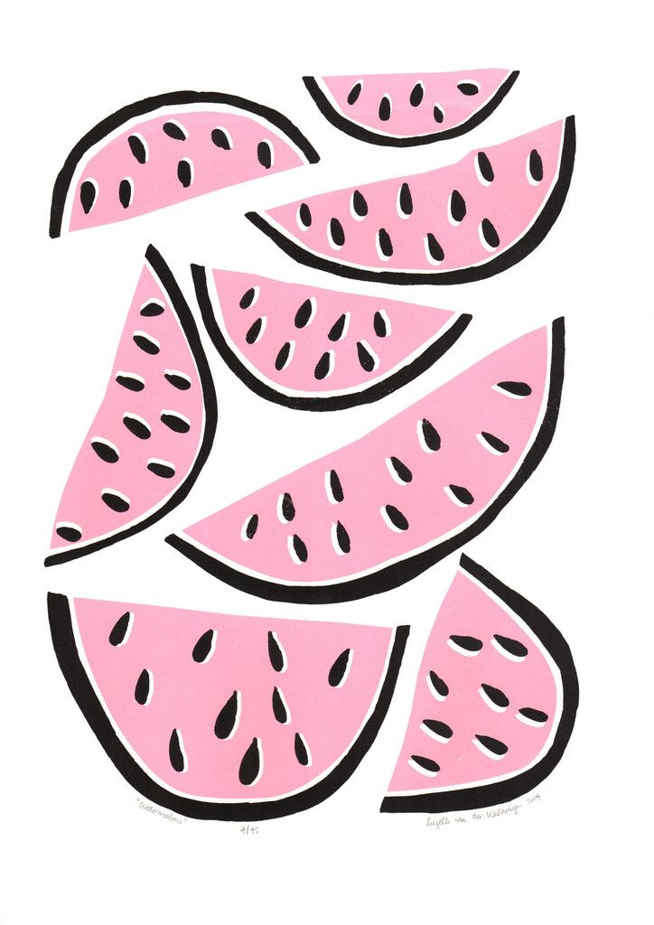 """Watermelons"" ltd edition silkscreen print by Lu West"