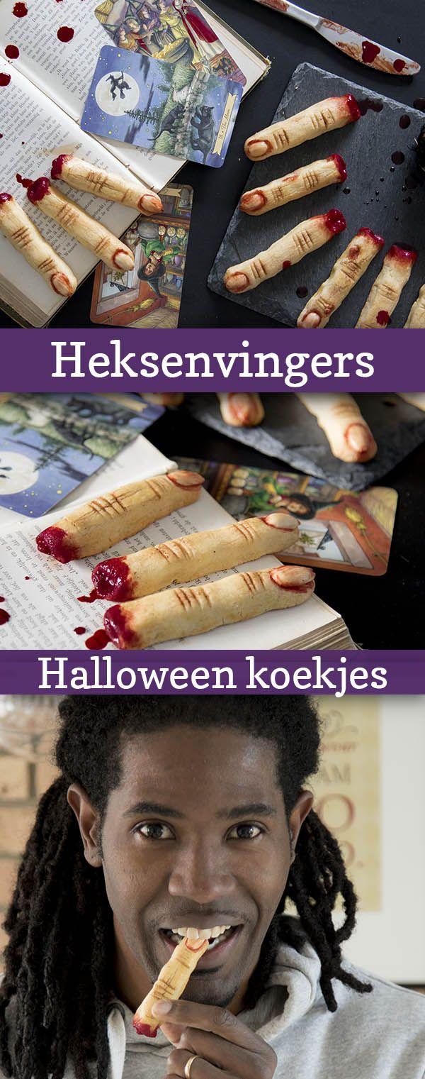 Heksenvingers koekjes voor Halloween