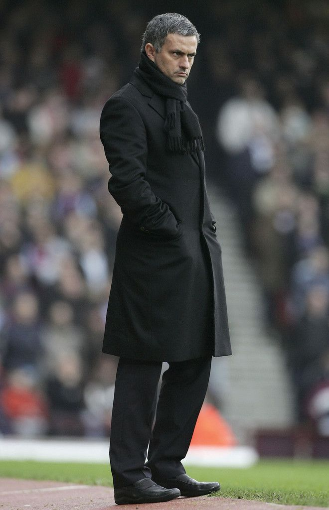 June 7, 2013 - A SLEEKER look in all black for Jose Mourinho.