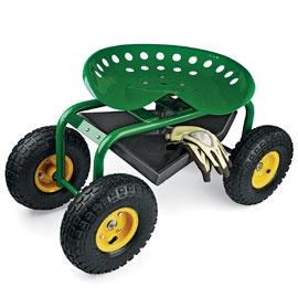 <3: Gardens Ideas, Gardens Seats, Gardens Caddy, Enjoying Gardens, Rolls Gardens, Caddy Enjoying, Tractors Seats, Tools Trays, Wheels Rolls