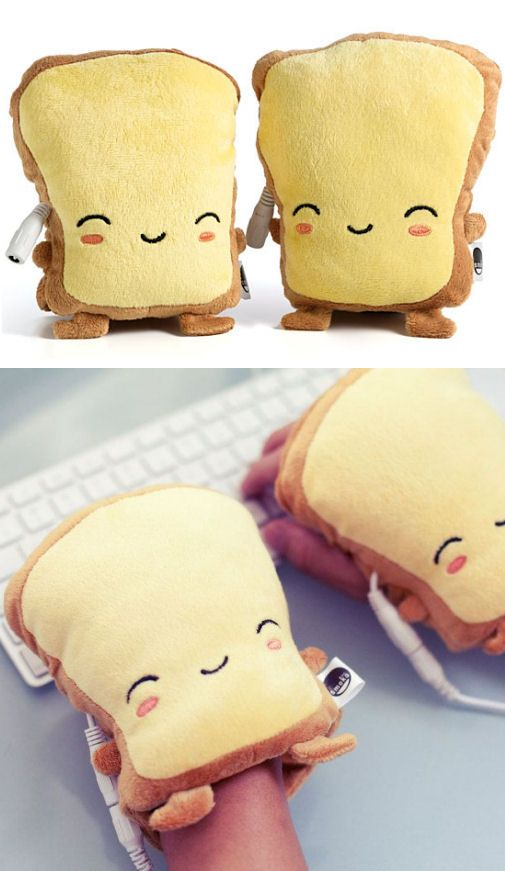 Toasty Hand Warmers // they warm up when plugged into any USB port ♥ ha ha