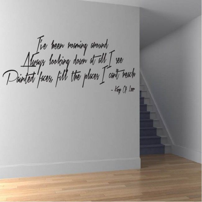 Wall Art Stickers Song Lyrics : Use somebody wall sticker kings of leon art lyrics