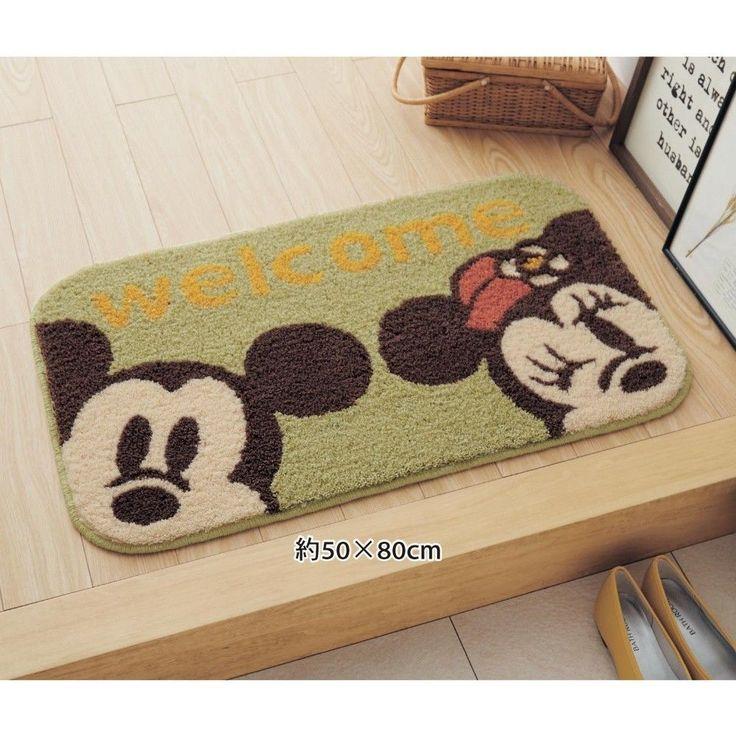 Disney Mickey Minnie Washable Door Mat Rug Floor Bathroom Made in  Japan E2783 #DISNEYJapan