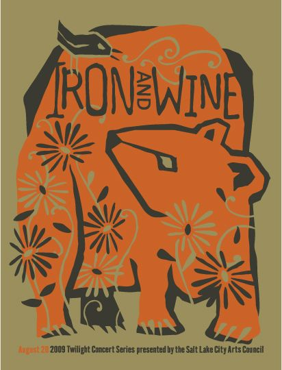 Iron and Wine 2009 concert poster by Furturtle Show Prints (SOLD OUT)