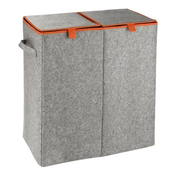Filz Orange Laundry Sorter Laundry Sorter Laundry Hamper Double Laundry Hamper