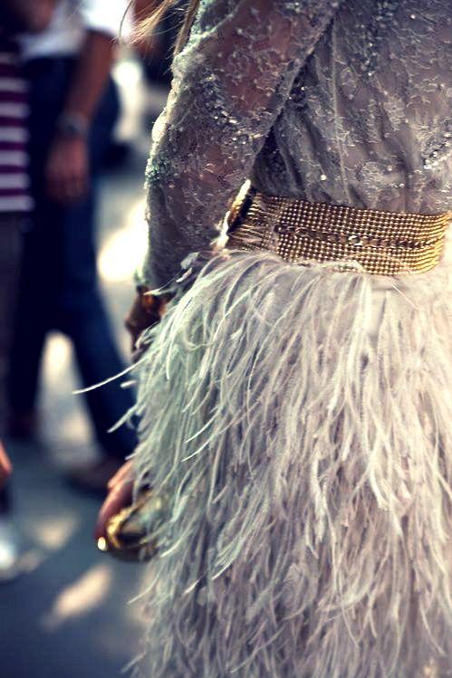 sparkle + feathers