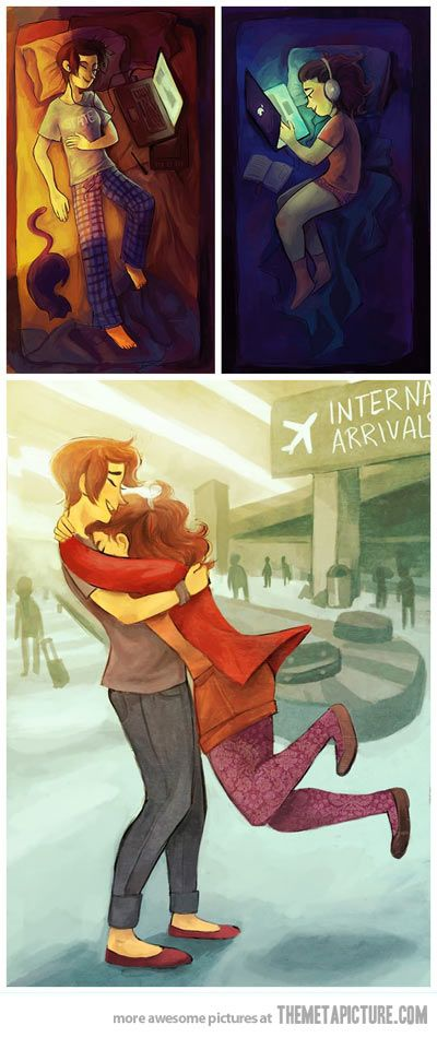 Long distance relationships... - The Meta Picture