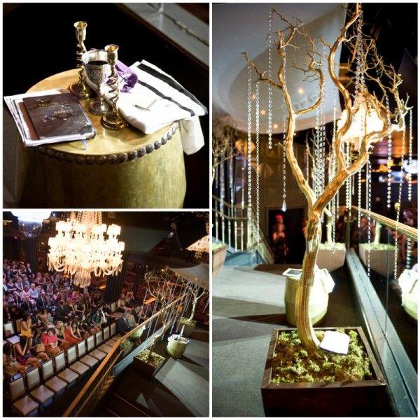 upscale jewish wedding ceremony  Jewish Wedding Ceremony at Hard Rock Hotel & Body English  #chuppah #wedding #lasvegas   www.andreaeppolitoevents.com