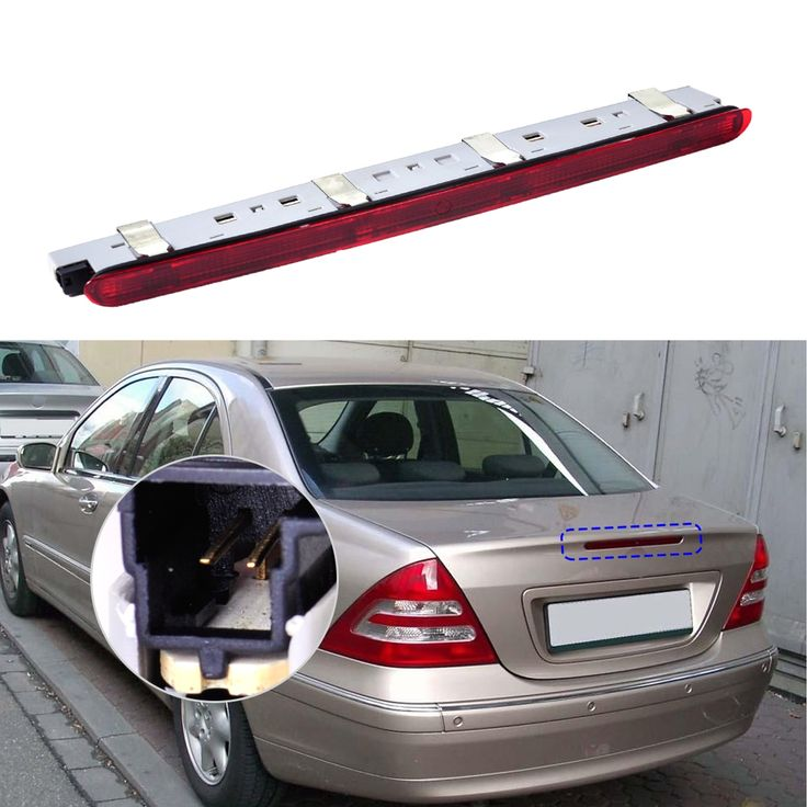 (32.04$)  Know more  - DWCX 2038201456 2038200156 1PC Rear Tail Stop Lamp Third Brake Light for Mercedes Benz W203 C230 C240 2000 - 2004 2004 2006 2007