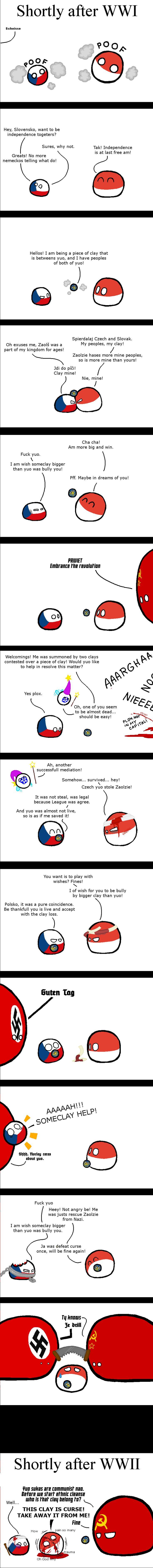 Zaolzie Curse - Polandballs Countryballs