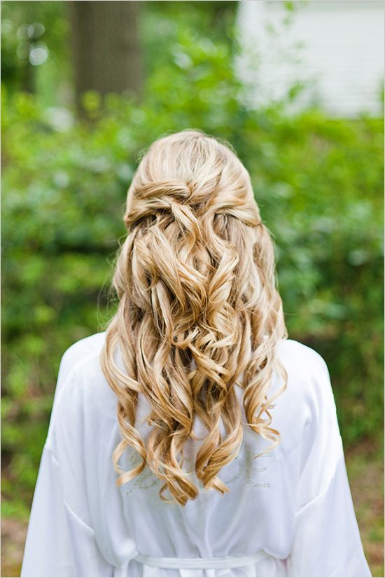 long wedding hair ideas #weddinghair #hair ideas http://www.weddingchicks.com/2012/11/06/pink-and-white-garden-wedding/