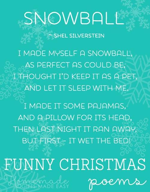 Several Funny Christmas Poems & Songs: Politically Correct Frustrated Santa; I Want A Hippopotamus for Christmas; Grandma got Run-over by a Reindeer; more