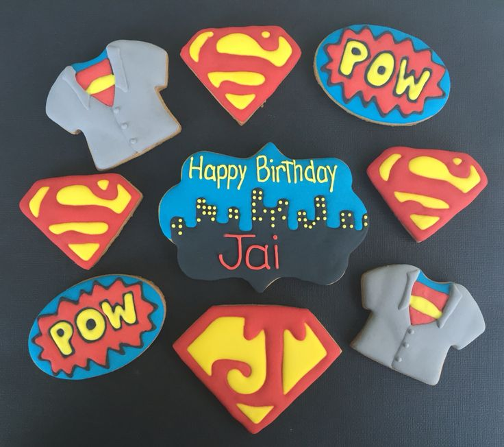 Superman cookies