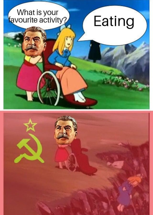Why did u say that right to stalin's face, why…