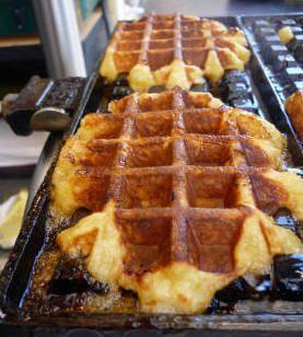 recettes: desserts: Gaufre liégeoise à la cannelle (la vraie)