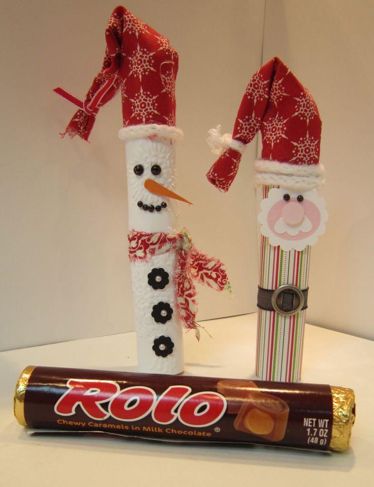 Santa and Snowman Rolo Candies