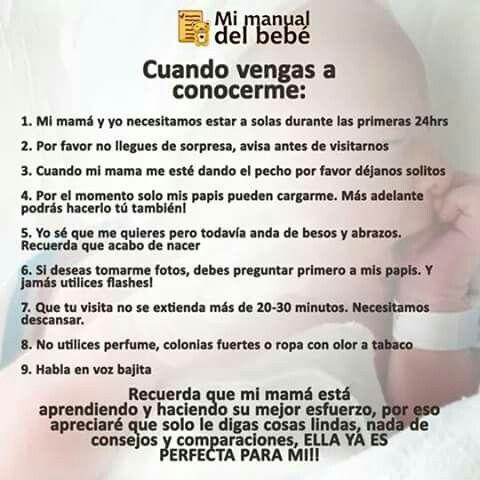 Consejos para las visitas del recién nacido