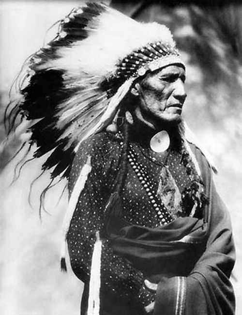 Red Pipe - Arapaho, native american, indian, headpeace, feathers, culture, vintage, history, photo b/w.