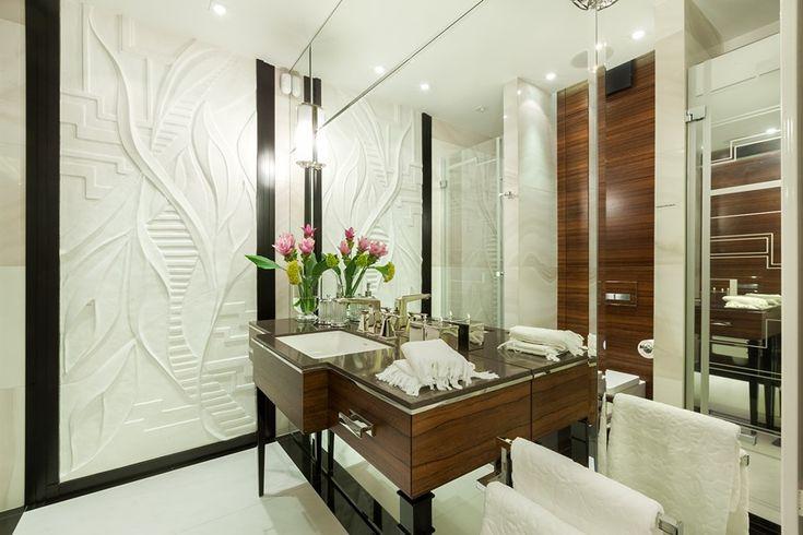 Elegancka łazienka w nowoczesnym wydaniu - Dominika Rostocka - HomeSquare