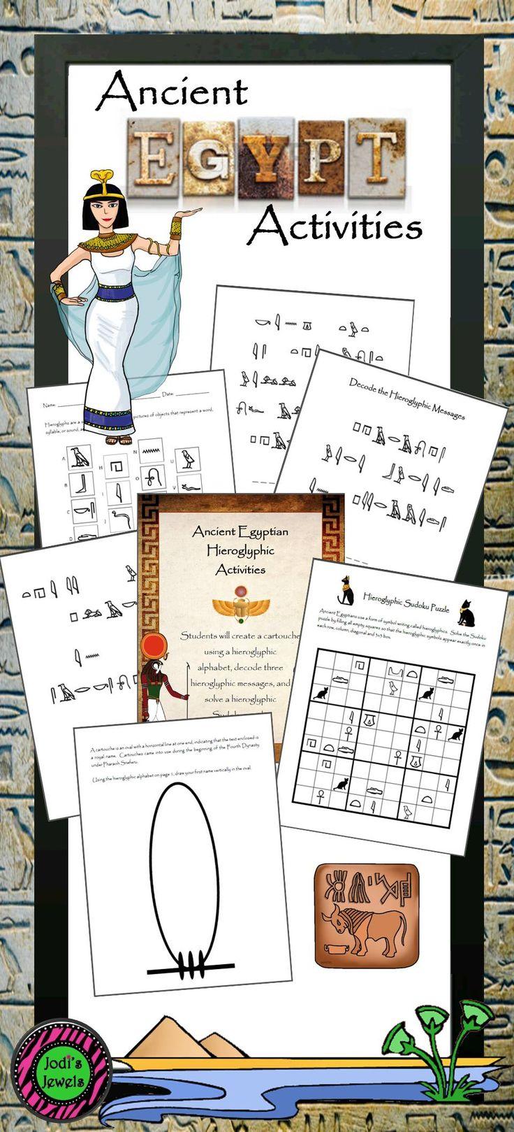 Hieroglyphic writing activity for preschool