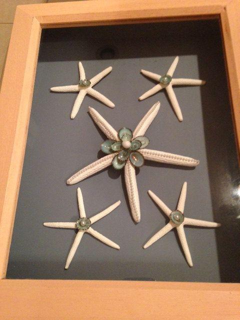 Estrella de mar playa caja de sombra de playa decoración Casa Decor/náutica decoración de la pared