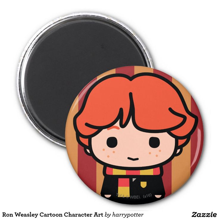 Ron Weasley Cartoon Character Art. Regalos, Gifts. #imanes #magnets