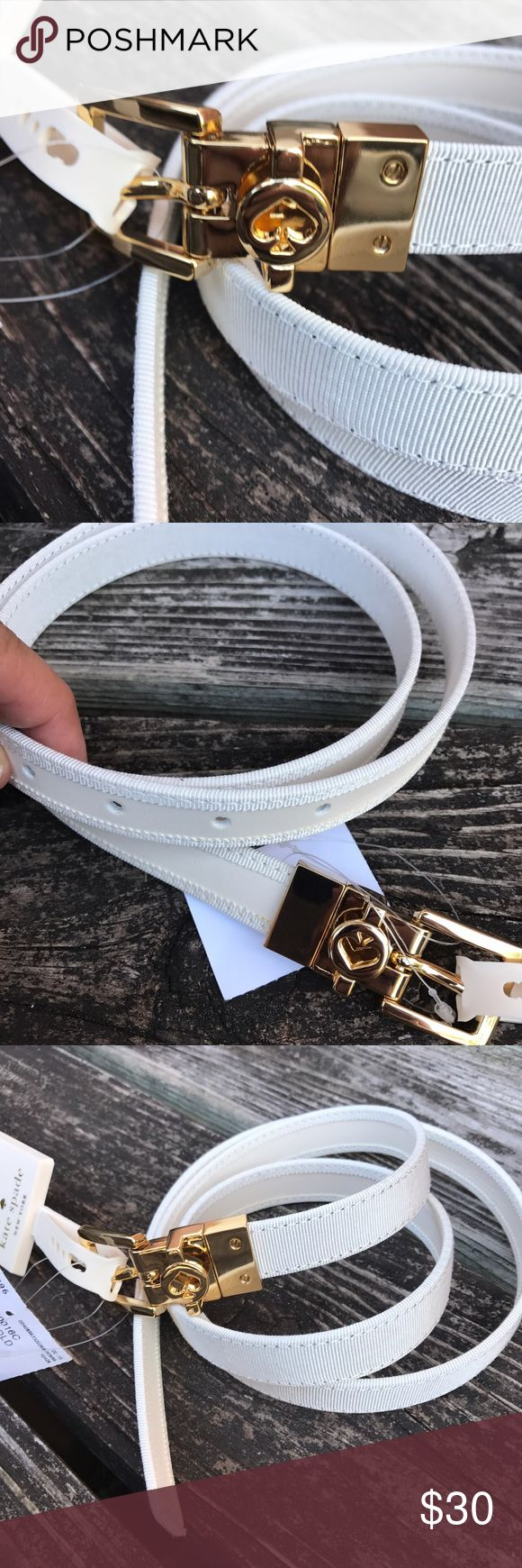 """Kate ♠️ Spade Reversible belt. Leather on one side/fabric on the other. Single prong buckle closure with signature Kate spade branding. Belt width 20 mm .. 32-36""""L kate spade Accessories Belts"""