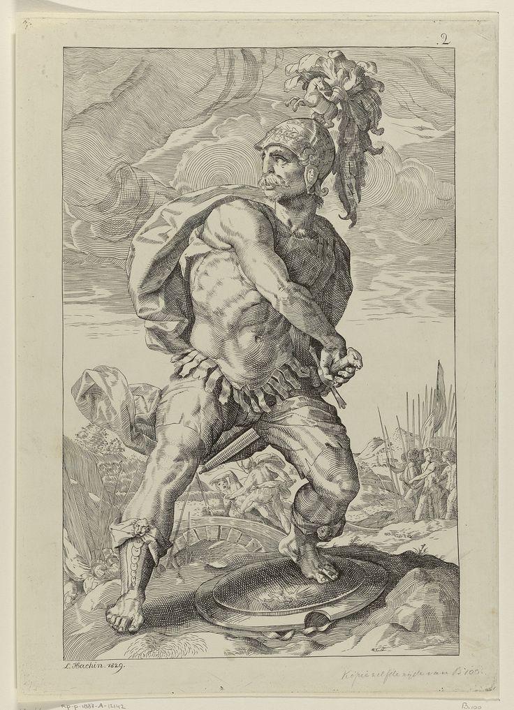 Titus Manlius Torquatus, Roman hero by L. Hachin, 1829.  Rijksmuseum, Public Domain