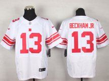New York Giants #13 Elite Odell Beckham Jr White Jersey