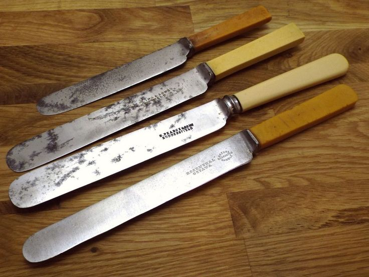 sheffield kitchen knives vtg sheffield cutlery lot celluloid handle carbon steel knives mixed collection 9157
