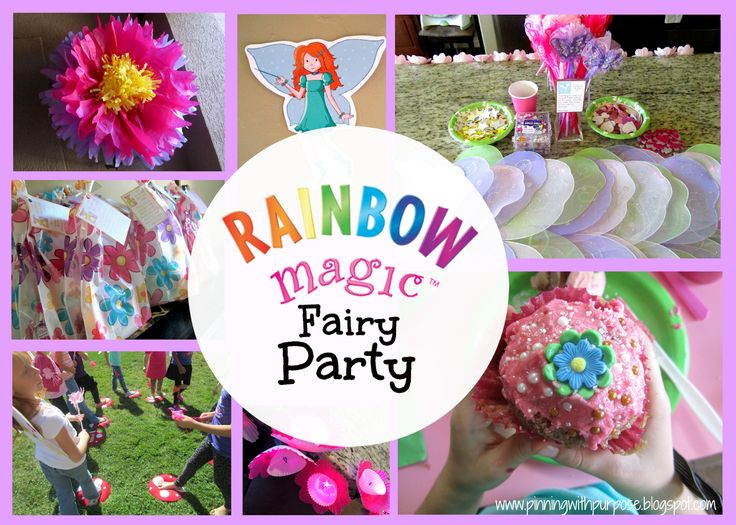 Pinning with Purpose: Rainbow Magic Fairy Party - decorations and activities