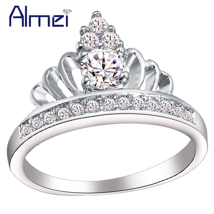 Find More Rings Information about Crown Royal Ring Jewelry Silver Plated Anel Coroa,CZ Diamond Bridal Wedding Luxury Rings for Women Engagement Accessories J228,High Quality jewelry wiki,China jewelry travel cases storage Suppliers, Cheap jewelry turquoise from Almei Jewelry Store on Aliexpress.com