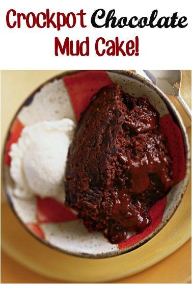 Crockpot Chocolate Mud Cake Recipe! #crockpot #slowcooker #cake #recipes