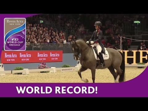 Charlotte Dujardin's World Record Breaking Freestyle test at London Olympia - YouTube